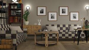 An interesting livingroom interior