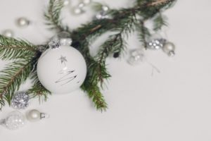 white tree ornament