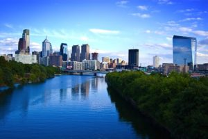 Philadelphia city skyline is what you will enjoy after moving from Boston to Philadelphia