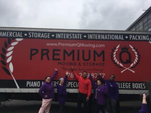 collaborations with other organizations - people in front of the moving truck