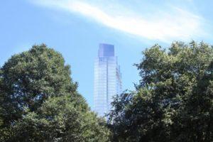 Skyscraper behind trees