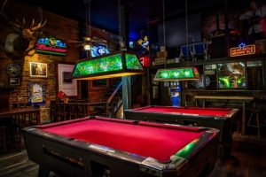 pool tables in a pub